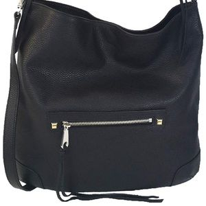 Rebecca minkoff black leather hobo bag